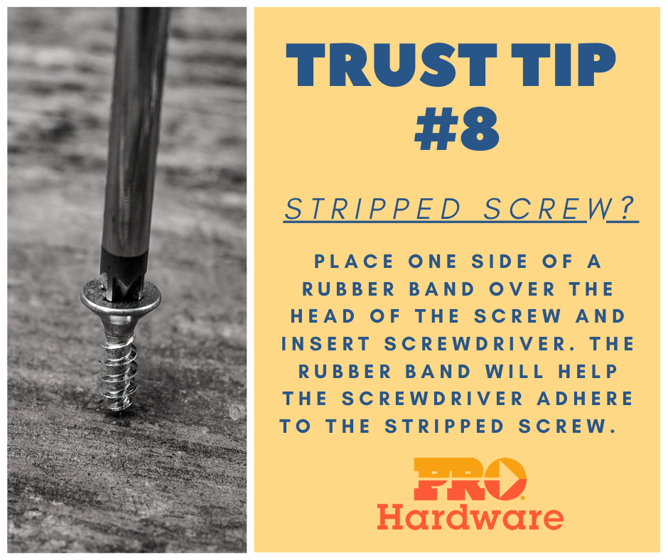 Stripped Screw Fixes